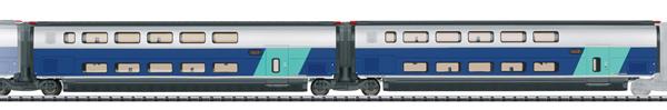 Trix 23488 - Add-On Car Set 2 for the TGV Euroduplex