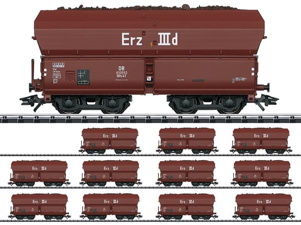 Trix 24129 - DB Type Erz IIId Hopper 12-Car Set, Era III