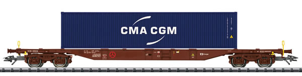 Trix 24133 - Container Transport Car Type Sgnss 539.9
