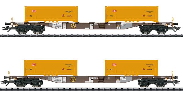 Trix 24136 - Soil Excavation Stuttgart 21 Container Transport Car Set, Era VI