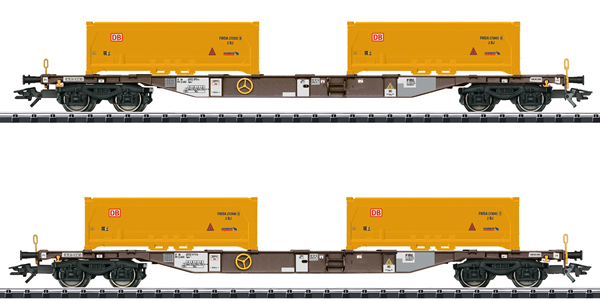 Trix 24138 - Soil Excavation Stuttgart 21 Container Transport Car Set, Era VI