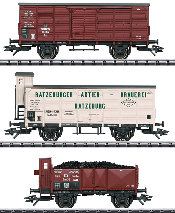 Trix 24148 - German Freight Car Set of the  KPEV, Ep. I
