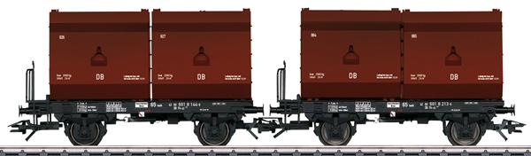 Trix 24175 - German 2 Tubs Coking Coal Tub Transport Car Set of the DB