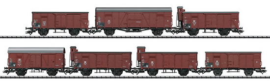 Trix 24540 - German 7pc Freight Car Set Type G 10 - INSIDER MODEL