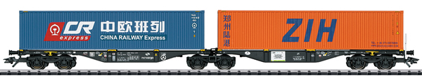 Trix 24802 - Type Sggrss Double Container Transport Car PKP Cargo, Era VI