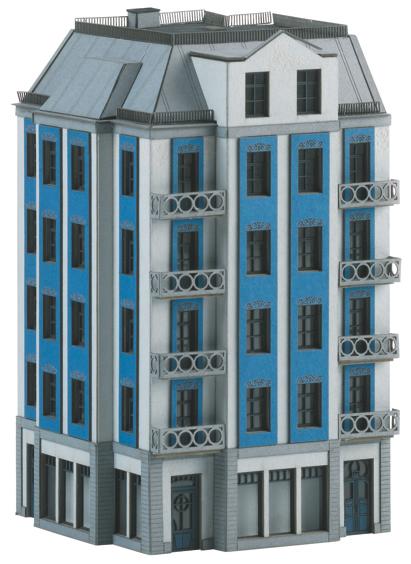 Trix 66308 - Building Kit for a Corner City Building in Art Nouveau