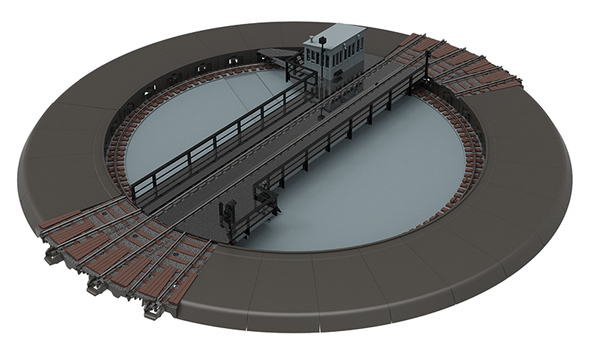 Trix 66861 - DB 23m C Track Turntable