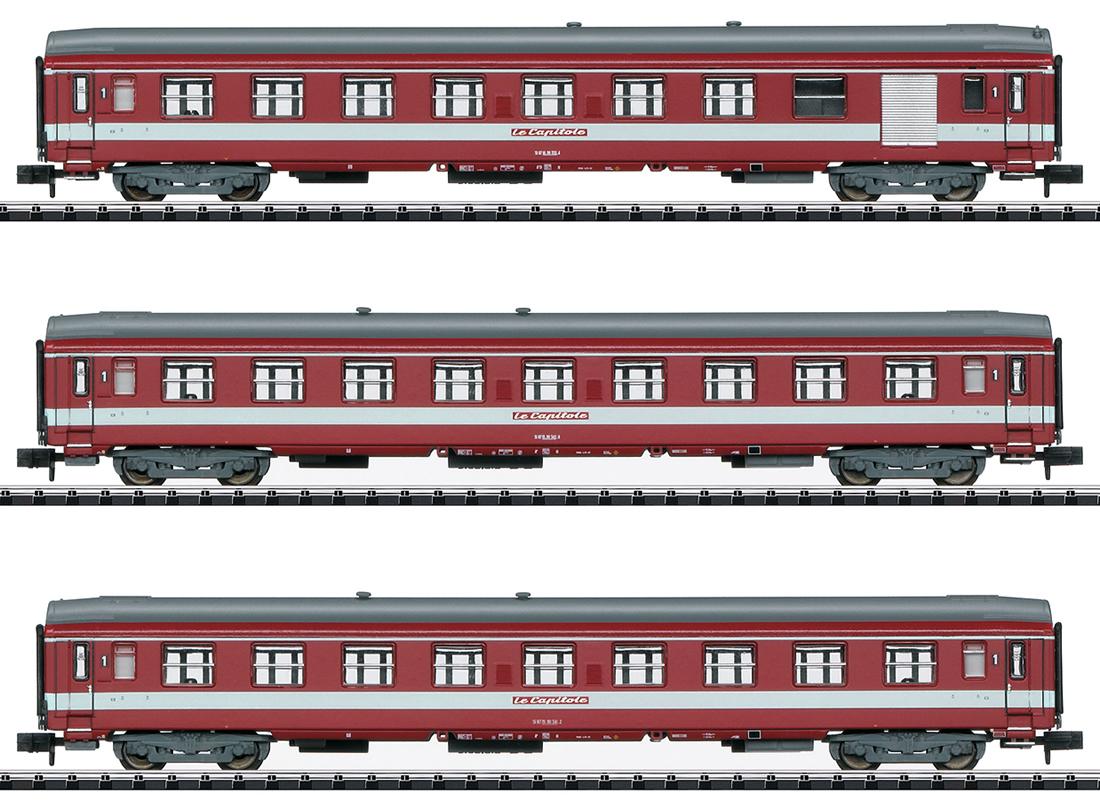 trix 15950 sncf le capitole express train passenger car set. Black Bedroom Furniture Sets. Home Design Ideas