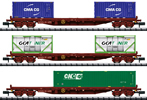 French Container Car Set of the SNCF