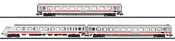 German 3pc Passenger Car Set IC 2206 of the DB AG