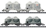 German 4pc Cement Silo Car Set of the DB