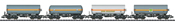 German Pressurized Gas Tank Car Set (4 cars) of the DB
