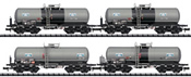 German 4pc Sulfuric Acid Tank Car Set of the DB AG