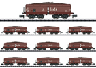 Display with 10 Type Erz Id Hopper Cars