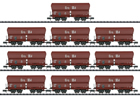 German Display with 10 Type Erz IIId Hopper Cars