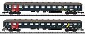 Danish 2pc Passenger Coach Set of the DSB