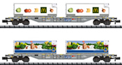 Foodstuffs Refrigerated Transport Container Transport Car Set