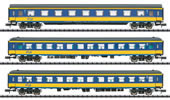 3pc Express Train Passenger Car Set