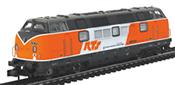 Austrian Diesel Locomotive BR 221 of the RTS, Sound
