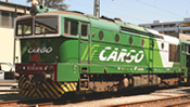 Italian Diesel Locomotive DE 520 of the FNM
