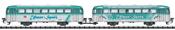 German Class VB 996 and VB 998 Trailer Car Set of the DB AG
