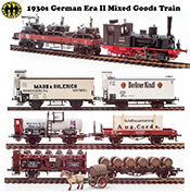 1930s German Era II Mixed Goods Train