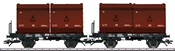German 2 Tubs Coking Coal Tub Transport Car Set of the DB