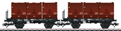 German 3 Tubs Coking Coal Tub Transport Car Set of the DB