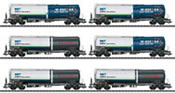 6pc Freight Car Set Type Zans and Zacns