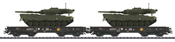 German Flat Car Set w. Tanks of the DB