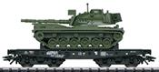 DB Type Rlmmps Heavy-Duty Flat Car w/ M 48 Combat Tank, Era IV