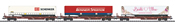 German Freight Car Set (3cars) of the DB AG
