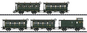 Royal Bavarian 5pc Passenger Car Set of the K.Bay.Sts.B