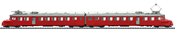 Swiss Double Powered Rail Car Class RAe 4/8 of the SBB (DCC Sound Decoder)