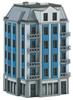 Building Kit for a Corner City Building in Art Nouveau