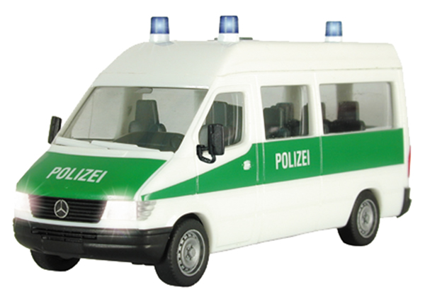Viessmann 1130 - H0 MERCEDES BENZ Sprinter police with electric flashing light and lights