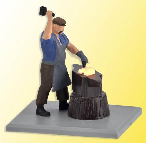 Viessmann 1514 - H0 Blacksmith with glowing iron, moving