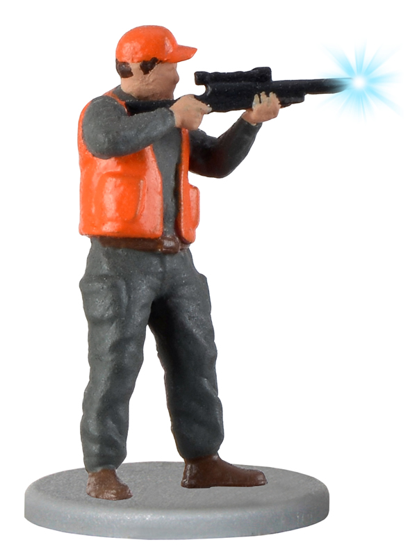 Viessmann 1535 - H0 Hunter with rifle and muzzle flash, modern