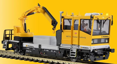 Viessmann 2620 - H0 ROBEL track motor car 54.22 DB Netz withmotorized crane, functional model, 2 rail version