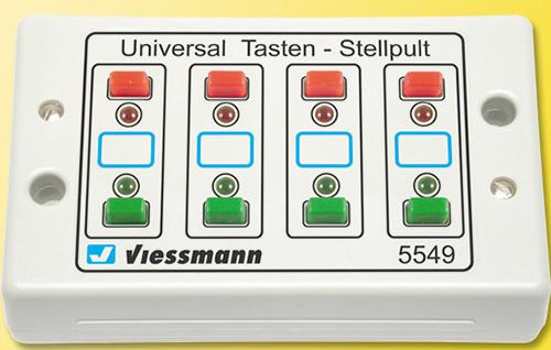 Viessmann 5549 - Universal push button panel, feedback, 2-aspect