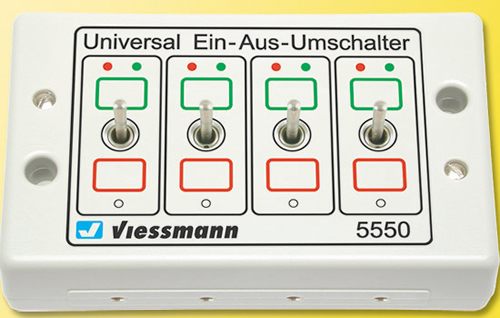 Viessmann 5550 - Universal switch unit with 4 On/Off toggles