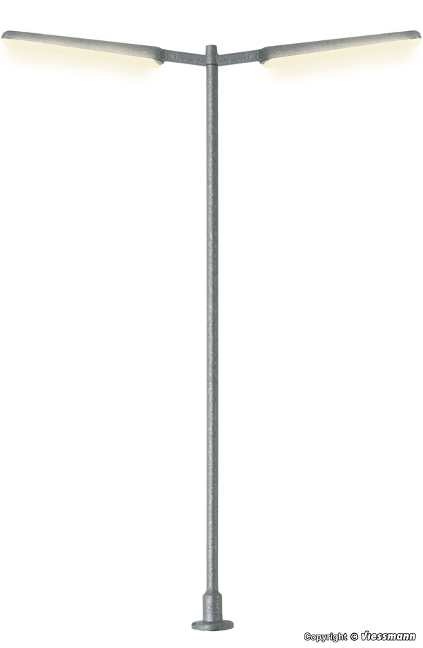 Viessmann 6099 - Slim street light, double, LED white