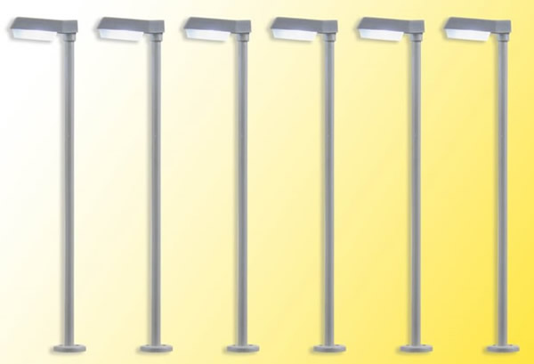 Viessmann 64976 - 6pc Street light modern, LED white