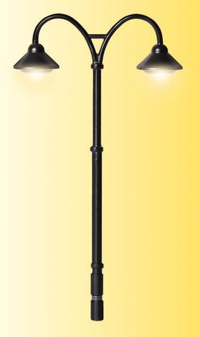 Viessmann 6909 - TT Platform lamp Baden-Baden double, 2 LEDs warm-white