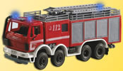 Fire engine with 3 blue lights, functional model