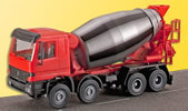 H0 Cement mixer truck with rotating mixing drum