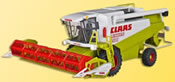H0 Combine harvester CLAAS with front lights and rotating coiler, functional model