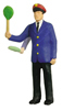 Conductor w. movable arm