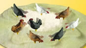 H0 Chicken run, moving