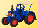 HO LANZ Bulldog tractor with lights, functioning model